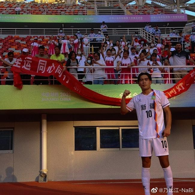 乃比江:想给全新疆人民道个谢 下届全运会争冠军
